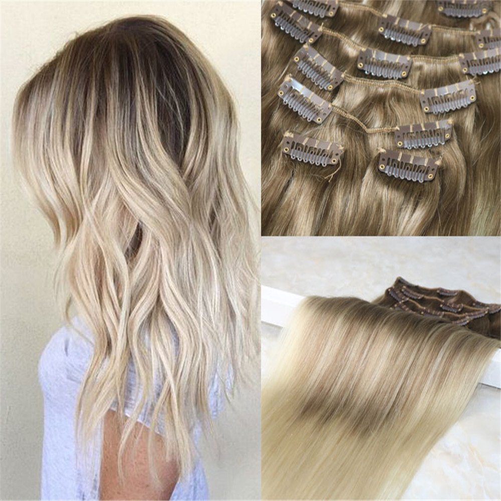 Outlet Hairdancing 18 7pcs 120g Full Head Remy Balayage Hair