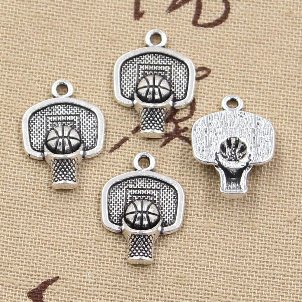 Basketball Photo Cabochon Glass Tibet Silver Chain Locket Pendant Necklace