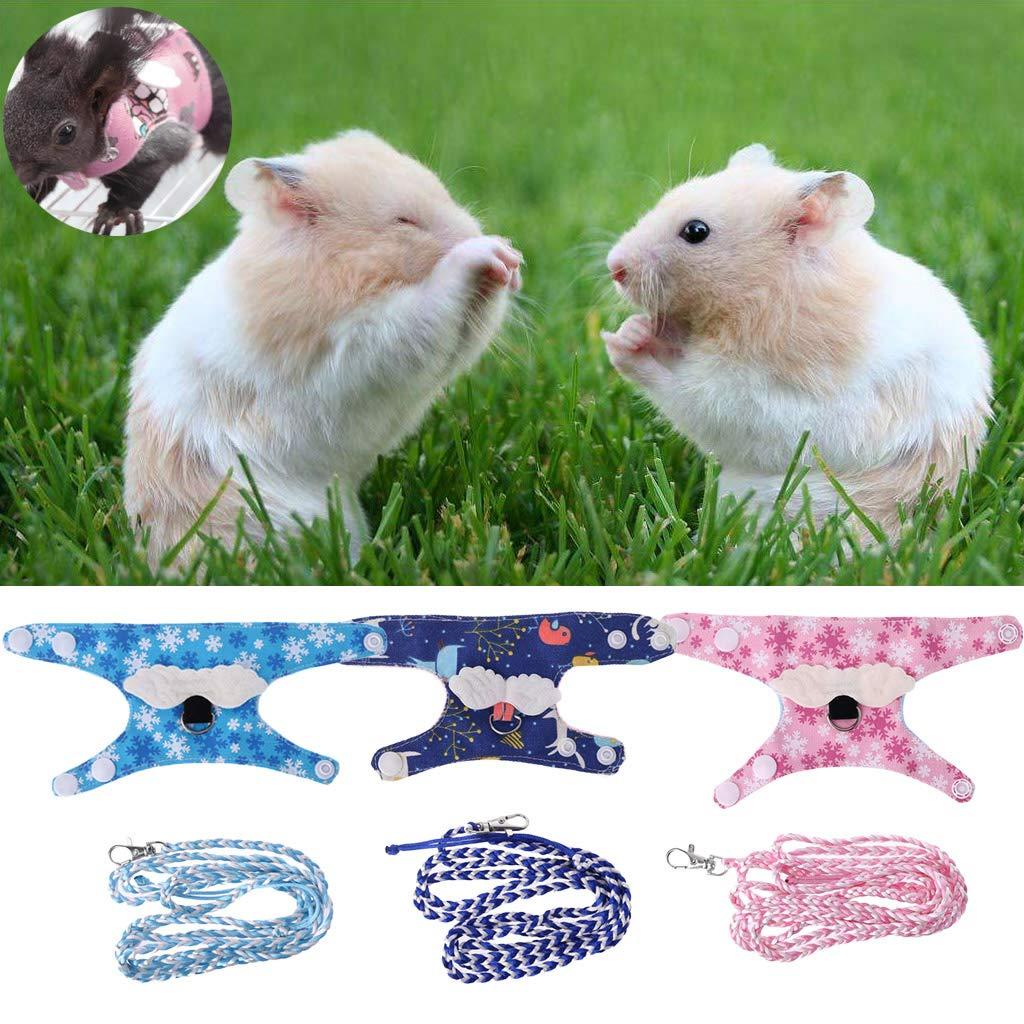 d0e627a26927 Amazon.com : Sarora - Multipurpose Small Pet Harness Forret Hamster ...