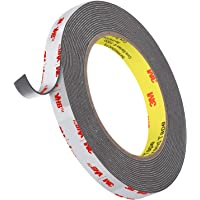 3M 4941 Heavy Duty Double Sided Tape VHB Tape 16FT Length,1.1mm Thickness,0.5inch Width,Waterproof Mounting Tape for Car…