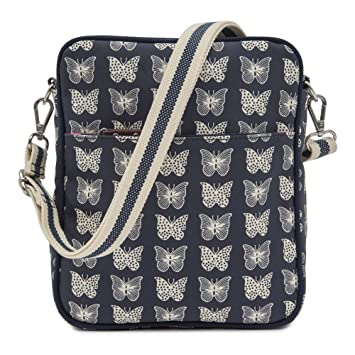 Pink Lining Out and About Mini Messenger Tulips and Forget Me Nots Changing Bags