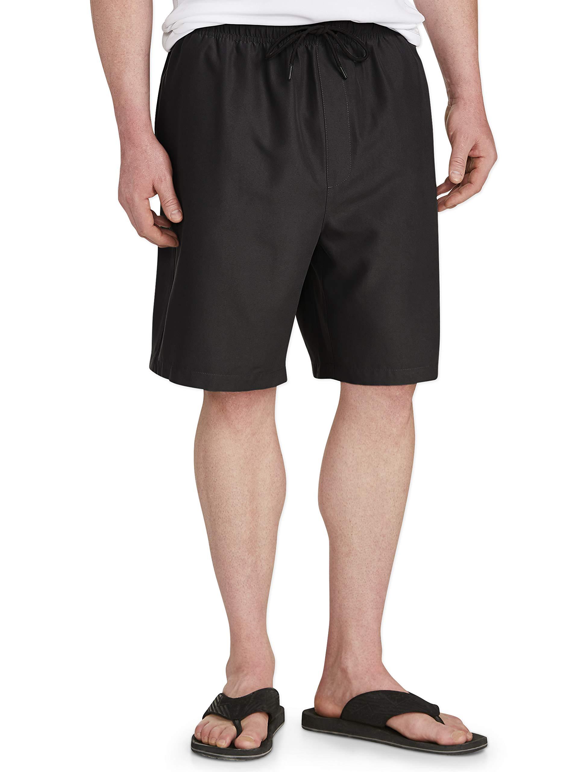 Amazon Essentials Men's Big & Tall Quick-Dry Swim Trunk fit by DXL, Black, 3XL by Amazon Essentials