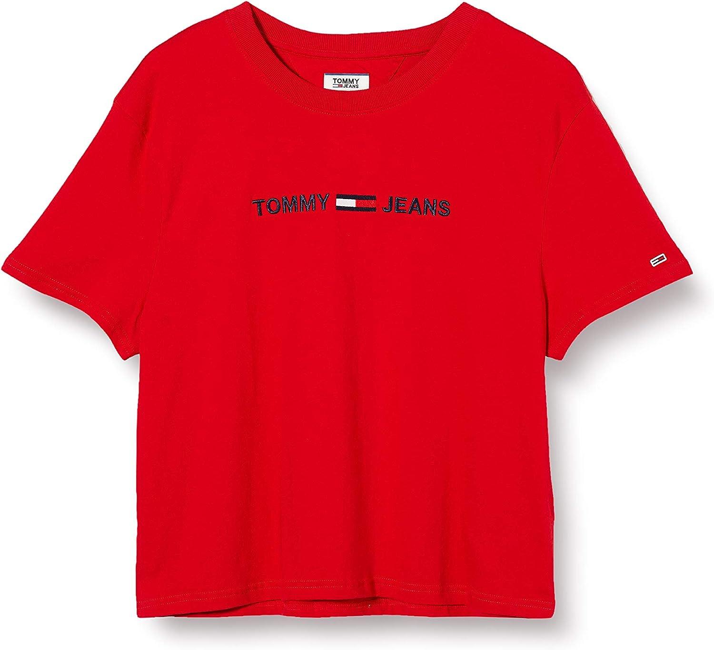 Tommy Jeans Tjw Modern Linear Logo tee Camiseta de Manga Corta para Mujer