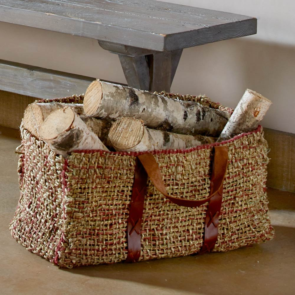 Handwoven Seagrass Log Basket