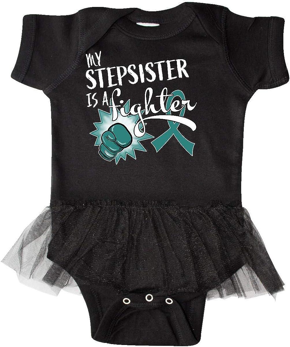 inktastic Ovarian Cancer Awareness My Stepsister is a Infant Tutu Bodysuit