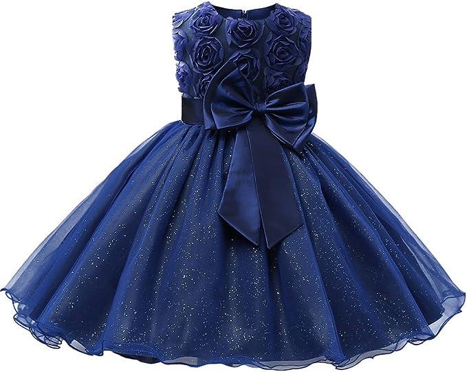 Amazon.com: Niyage - Vestido de fiesta para niña con flores ...