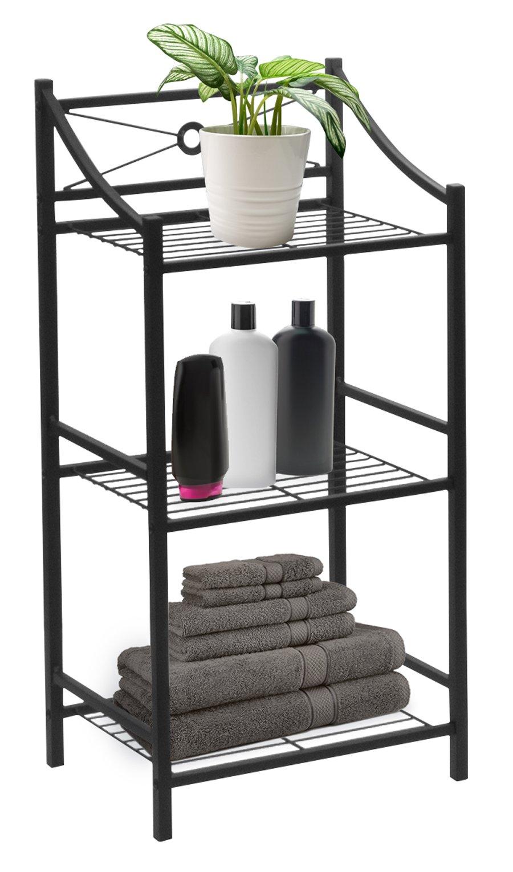 Sorbus Bathroom Storage Shelf, 3-Tier Freestanding Toilet Storage Shelves — Display Bath Essentials, Planters, Books