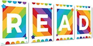 Sproutbrite Classroom Decorations - Reading Poster for Teachers - Bulletin Board and Wall Decor for Pre School, Elementary and Middle School