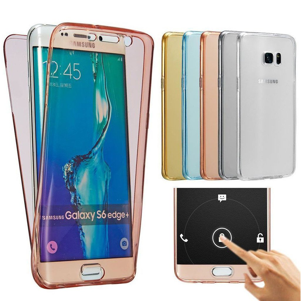 Samsung Galaxy S6 edge+/Plus Case, AMASELL Full Coverage 360 degree Front and Back Protective Case Shockproof TPU Gel Transparent Clear Cover for ...