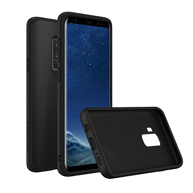 | Shock Absorbent Slim Design Protective Cover 3.5M // 11ft Drop Protection Compatible w//Wireless Charging RhinoShield Bumper Case for Galaxy S9 Plus CrashGuard - Black