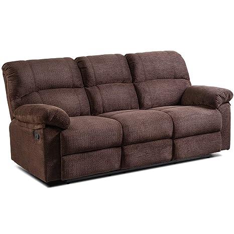 Miraculous Amazon Com Padded Fabric Upholstery Recliner Sofa Chair Lamtechconsult Wood Chair Design Ideas Lamtechconsultcom