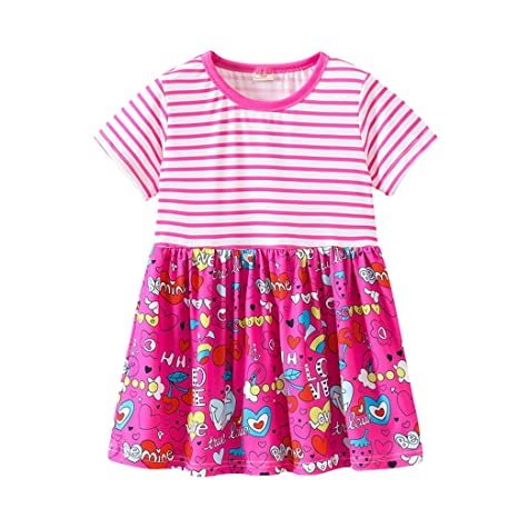presentación seleccione original más tarde Bonitos vestidos de dibujos animados para niños, a rayas ...