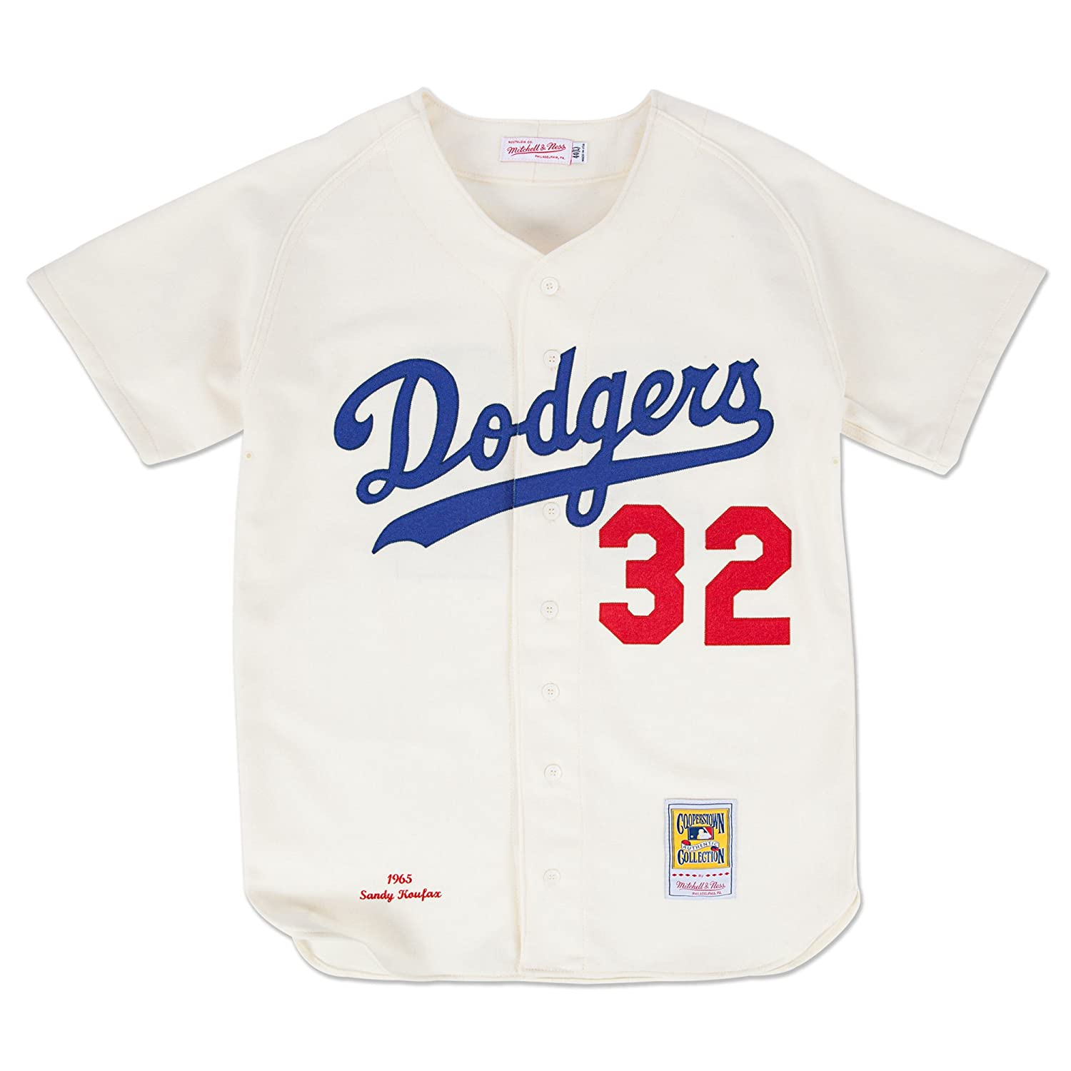 b3ff0dba Sandy Koufax Los Angeles Dodgers Mitchell & Ness Authentic 1965 Button Up  Jersey: Amazon.co.uk: Sports & Outdoors