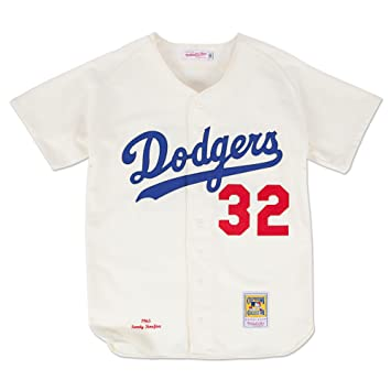 Sandy Koufax Los Angeles Dodgers Mitchell   Ness Authentic 1965 Button Up  Jersey 6232c27d876