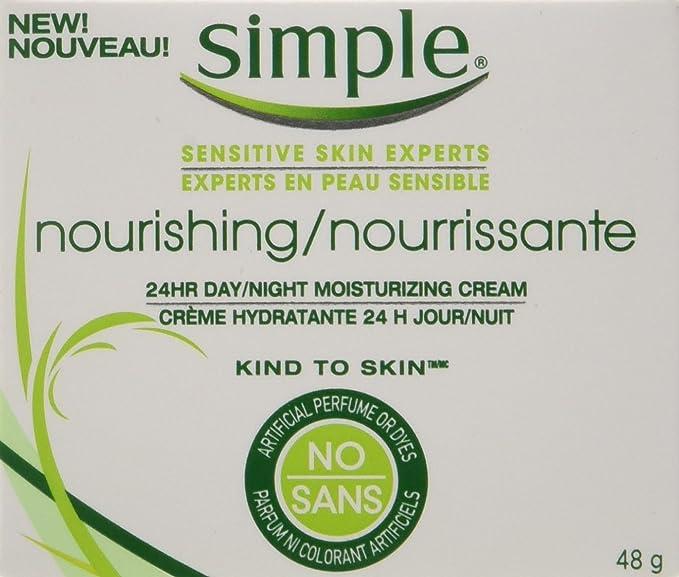 Simple Kind to Skin 24 Hour Nourishing Face Cream 48g: Amazon.ca: Beauty