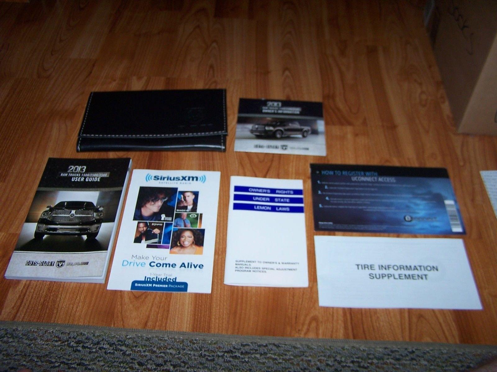 2013 Dodge Ram Trucks 1500/2500/3500 Owners Manual: Chrysler Group LLC:  Amazon.com: Books