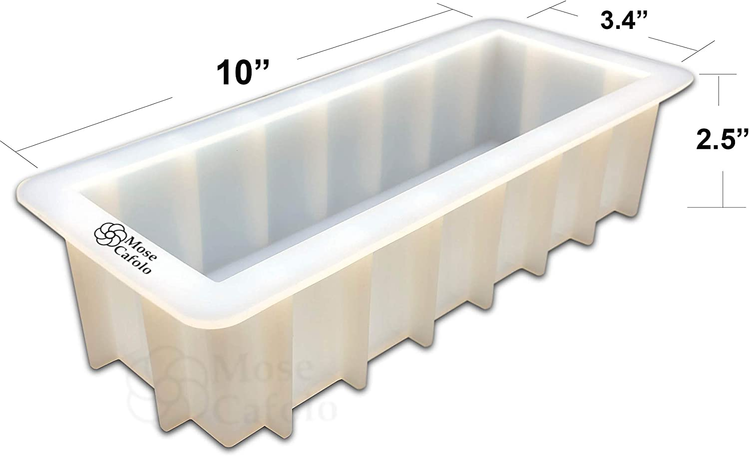 Mose Cafolo Silicone Soap Molds Square Handmade 4 Small Loaf Bar White Mould