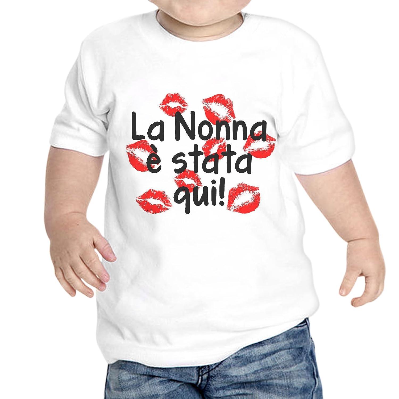 thedifferent T-Shirt Neonato Unisex La Nonna È Stata qui Baci