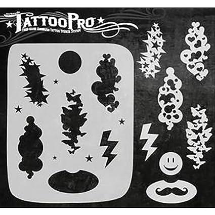 74a2c0969 Amazon.com: Airbrush Tattoo Pro Stencil (KIDS:Cluster)