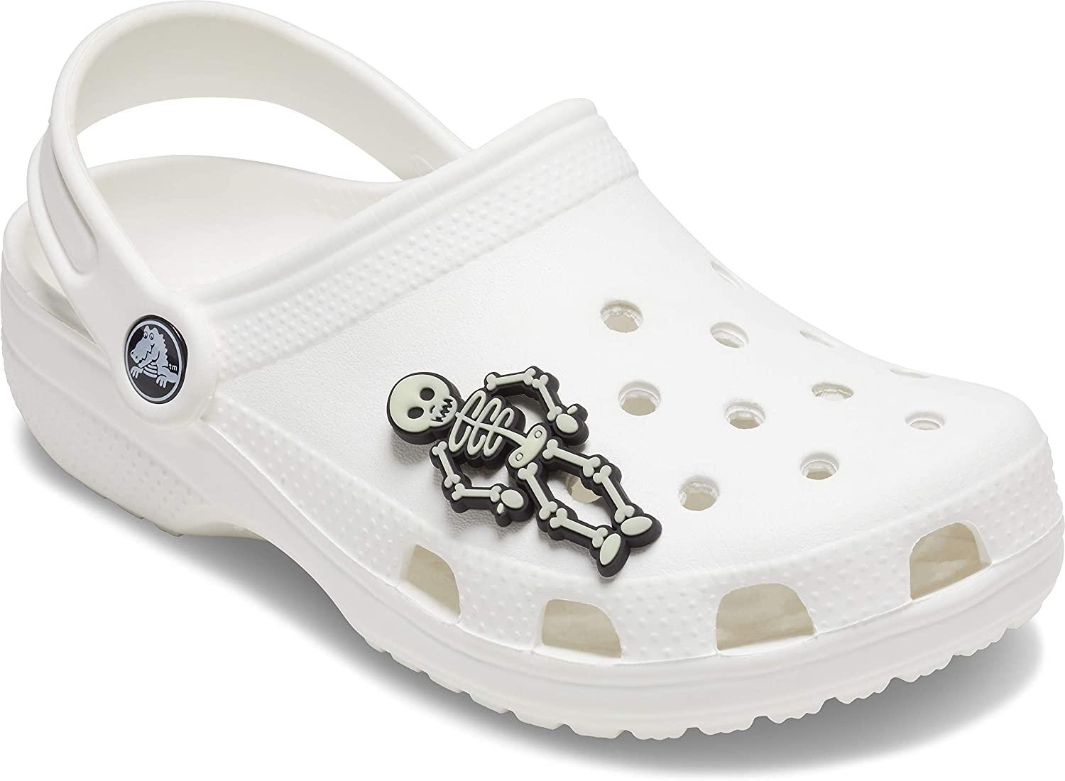 Crocs 10007922 Shoe Charms Glow in The Dark Skeleton Small