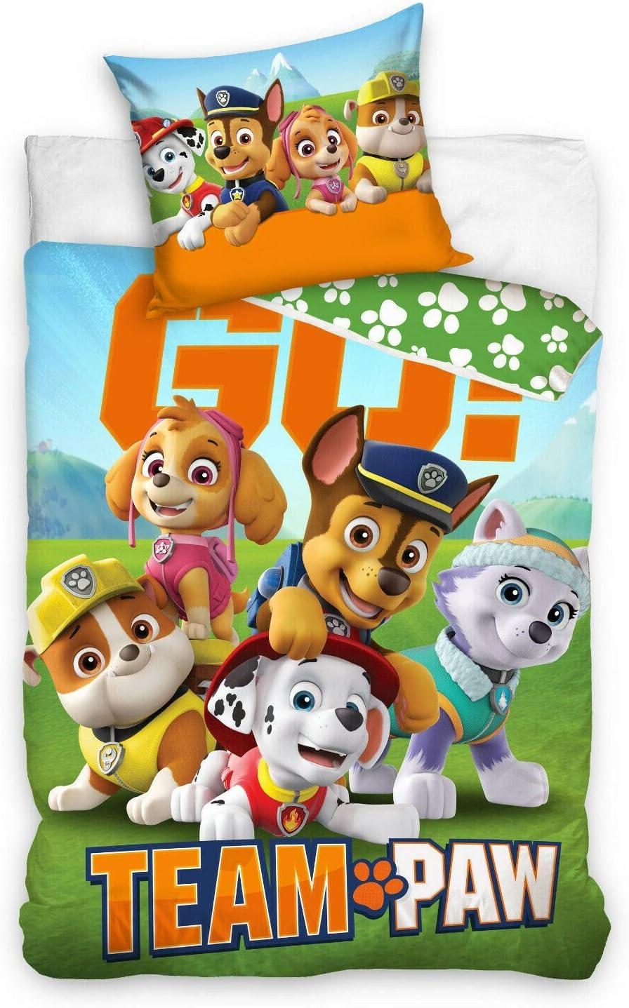 70x90 100/% Baumwolle Kinderzimmer Kinder Junge Dream Bettbezug Paw Patrol Bettw/äsche 140x200