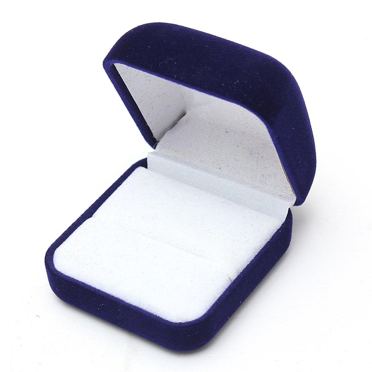 magasins populaires fréquent en gros 1 Ecrin Boîte Présentoir Cadeau Bagues Boucles D'oreilles Bijoux Velours  Display Bleu