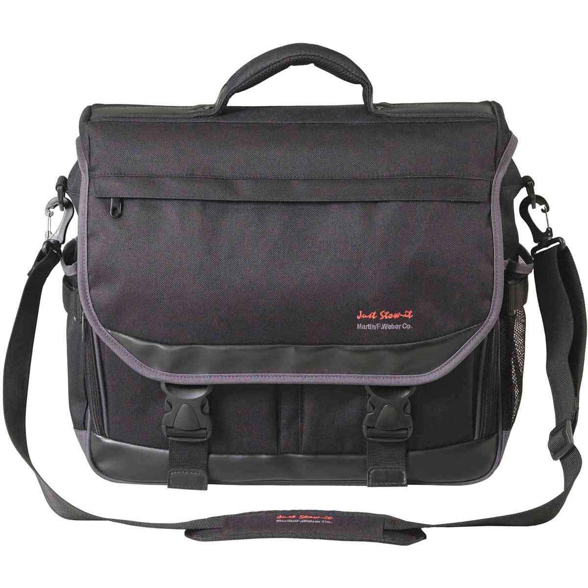 "Just Stow-It Ultimate Messenger Bag for The Arts, 16"" L x 18"" W x 5.25"" L, Black"