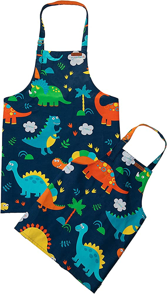 Children/'s dino apron