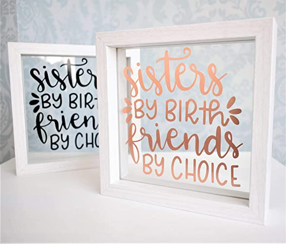 Uplifting Motivational Sister Friend Quote Floating Glass Frame ...