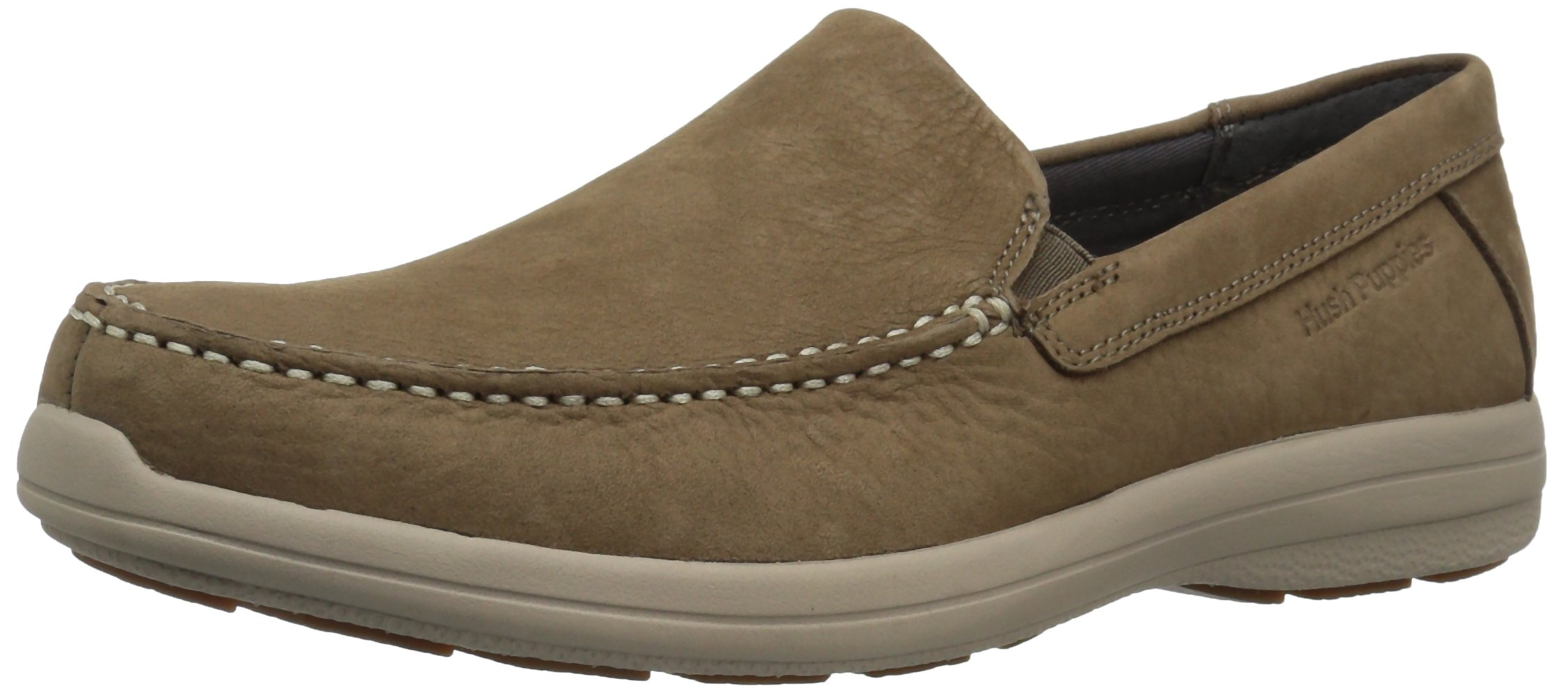 Hush Puppies Men's Brevis Patterson Slip-on Loafer, Taupe, 9.5 M US