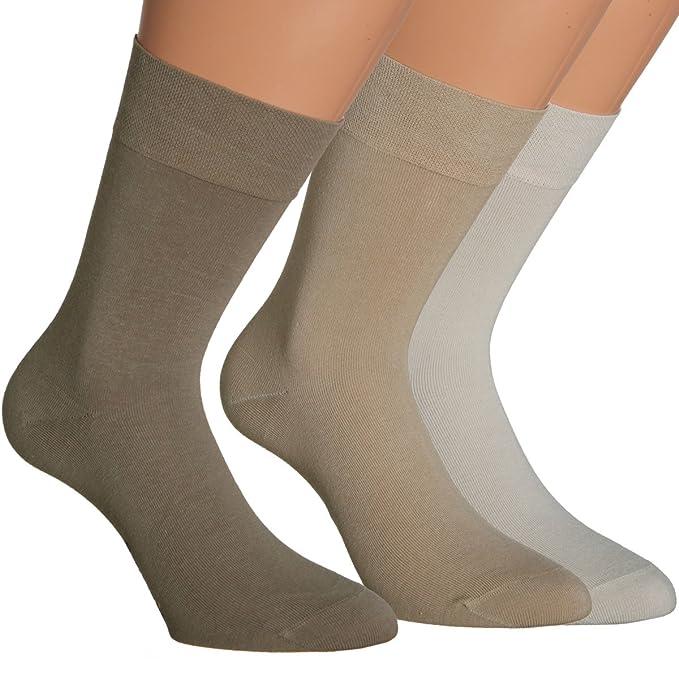 Vitasox Calcetines de caballero 31044 de algodón, para trabajar sin elástico, sin costura,