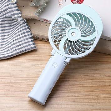 DYR Ventilador eléctrico, USB cargable Mini Ventilador/Enfriamiento por aspersión Ventilador de Mano/