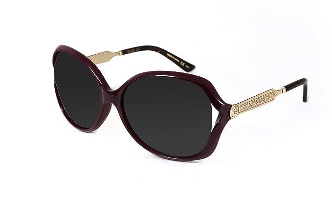 Gucci GG0076S, Gafas de Sol Para Mujer, 20/5000 BORGOÑA-ORO ...