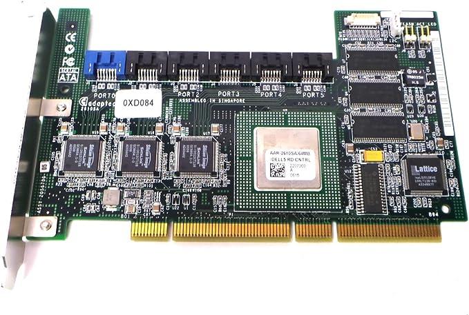 SATA Raid Controller Dell XD084 64MB Six-Channel 64Bit Pci