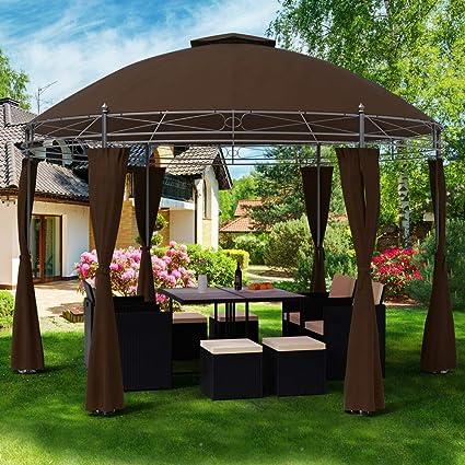 Deuba Carpa Toscana de 3, 5 m Color Marrón pabellón de jardín cenador Exterior hidrófugo terraza protección: Amazon.es: Jardín