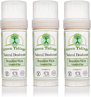 product image for Green Tidings Natural SENSITIVE SKIN Deodorant, Calendula & Sage (2.7 Ounce (3 PACK))