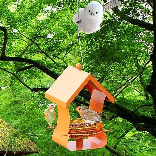 Amazon.com: Alimentador automático de pájaros de metal, para ...