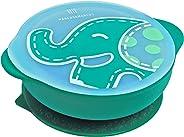 Tigela Com Sucção Com Tampa Elefante, Marcus E Marcus, Verde, Pequeno