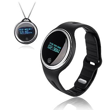Pulsera inteligente Pulsera de actividad Fitness Tracker pulsera de reloj inteligente Bluetooth IP67 impermeable E07 salud