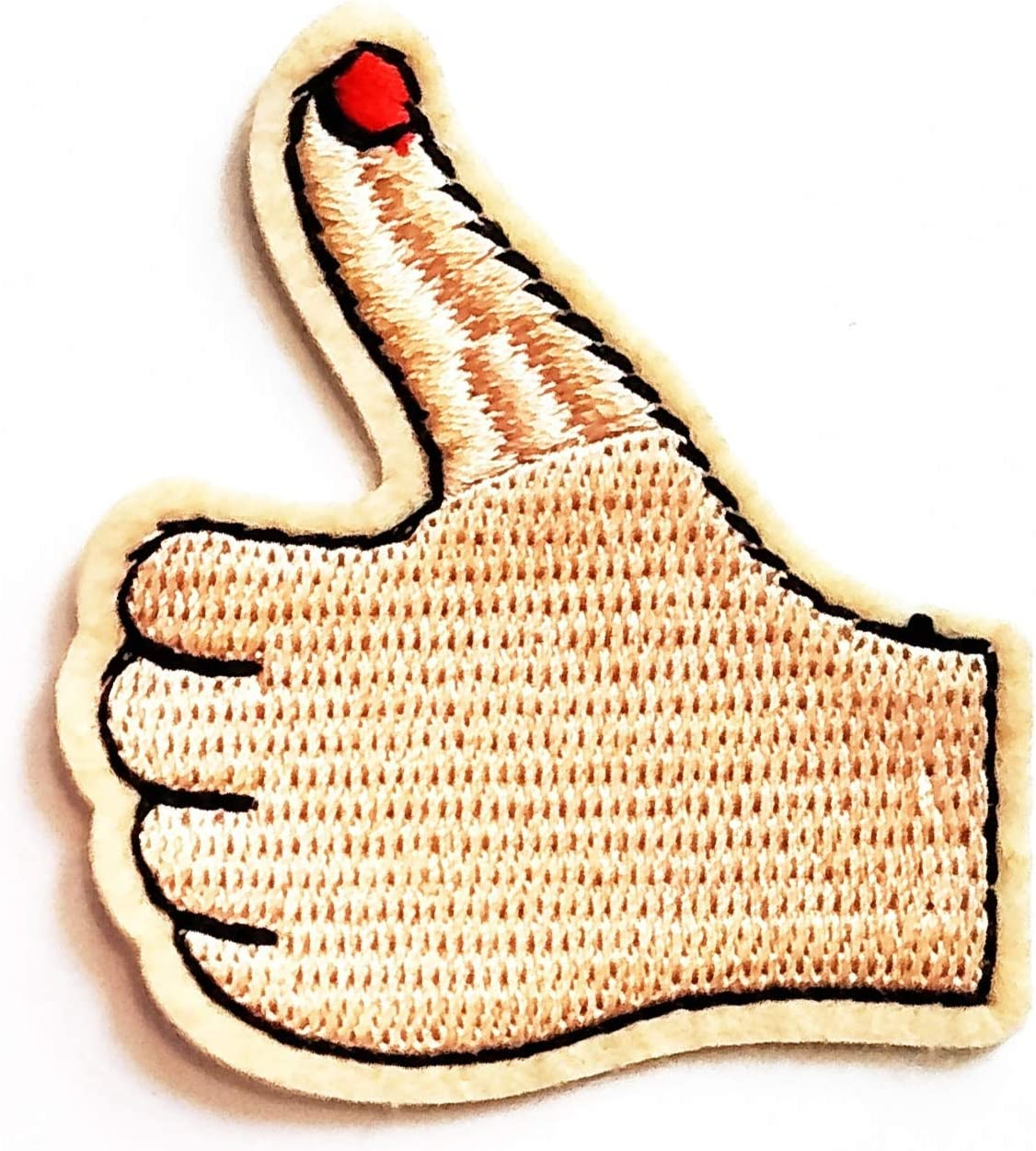 Nipitshop Patches Yellow Symbol Hand Engaging Facebook Like Click Like Logo Kids Cartoon Iron On Embroidered Applique Patch for Clothes Great as Happy Birthday Gift