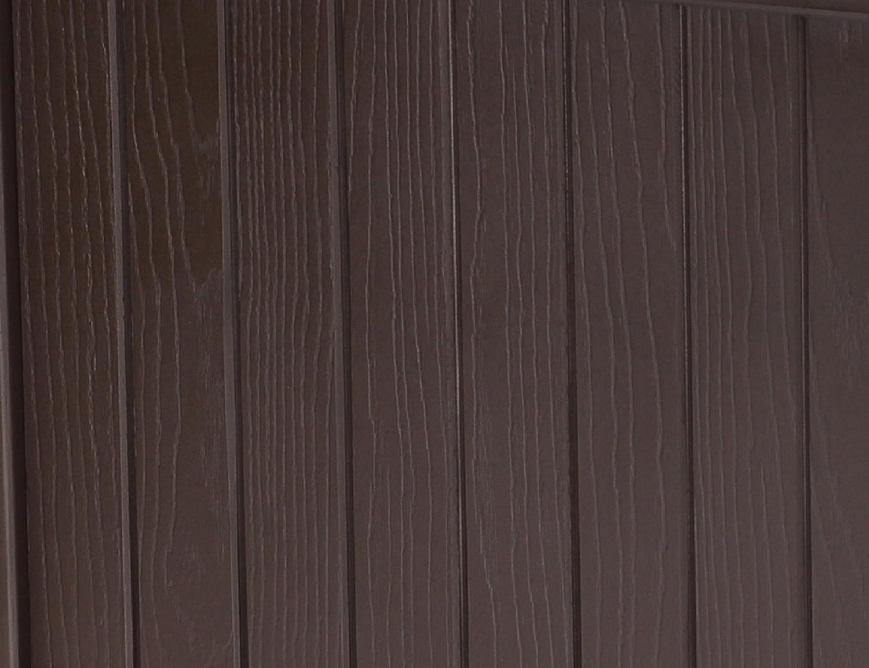 55 l Holzplatte Keter Allwetter-Garten-Tisch oder Bank Stil 55 Gallon Dunkelbraun