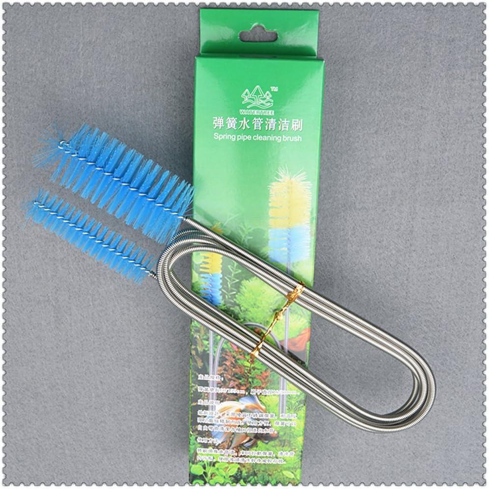 Color al azar OUNONA Pipa Limpieza Flexible Cepillo de Doble Extremo Cepillo de Manguera para Peces Tanque Acuario