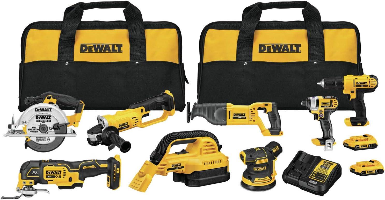 DEWALT 20V MAX Cordless Drill Combo Kit, 8-Tool (DCK883D2)