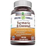 Amazing Formulas Turmeric Extract(Curcumin) with Coconut Oil for Better Absorption, 900Mg 120 Softgels (Non-GMO,Gluten Free) - Full of Antioxidants - Anti- Inflammatory - Promotes Immune Support*