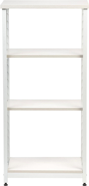 Amazon.com: Iris 3-Tier de malla abierta wood-top estante ...