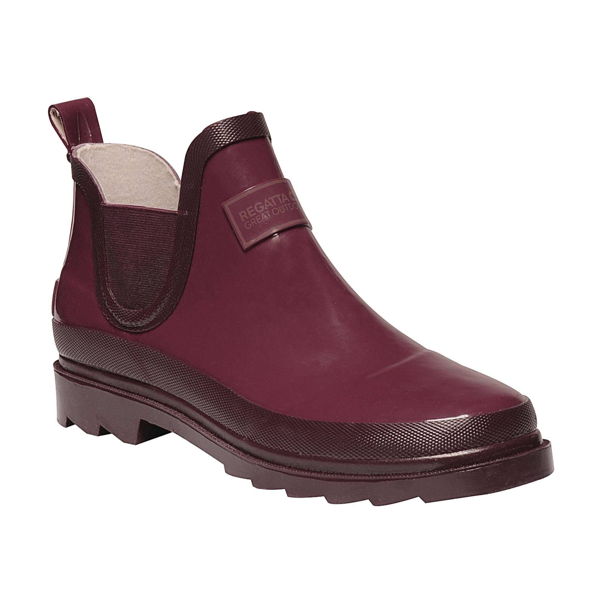 Regatta Great Outdoors Womens/Ladies Harper Low Cut Wellington Boots (US 9) (Dark Pimento/Fig)