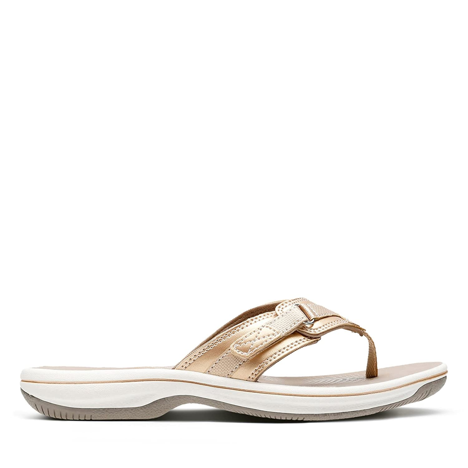 unique style best selection of new & pre-owned designer Clarks Brinkley Sea Synthetic Sandals in Gold Standard Fit ...