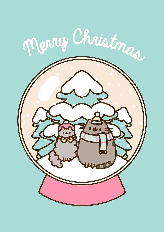 Pusheen il gatto ~ ~ Merry Christmas Globe vuoto biglietto di Natale Hype Cards