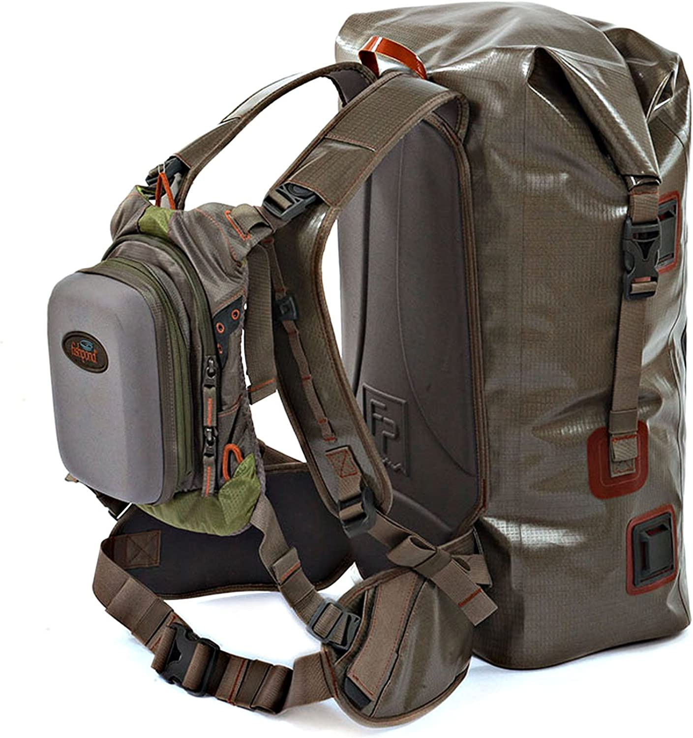 Gerry Outdoor Marine Chaffee Heathered Roll Top Backpack