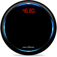 HealthSense PS139 Blue Orbit Digital Body Weight Personal Bathroom Weighing Scale with Step-On Technology (Jet Black)